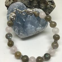 Rose Quartz & Labradorite Bracelet