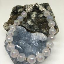 Titanium Rose Quartz Bracelet